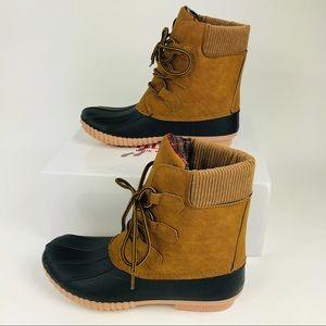 Olivia Miller Duck Boots Women's 6.5 Brown New
